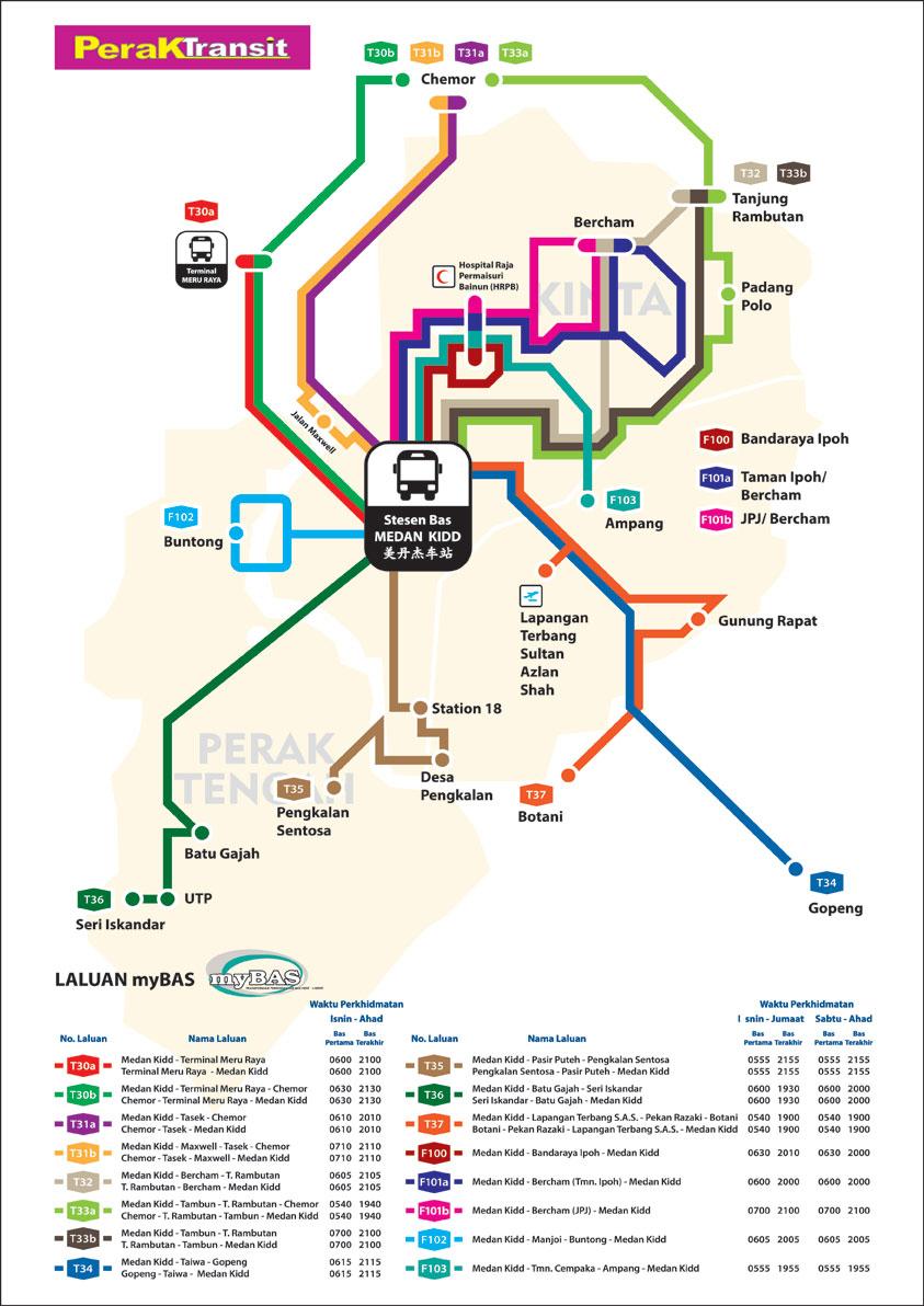Routes – Perak Transit Berhad